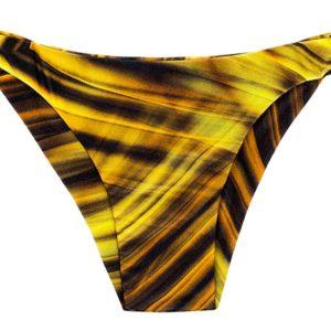 Bikinihose mit Seitenschnüre, Grafikmuster gelb-schwarz - Rio de Sol