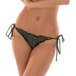 Schwarzes Lurex Bikinihöschen - Calcinha Radiante Preto Frufru