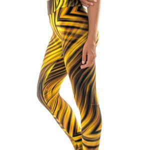 Gemusterte Fitness-Leggings gelb-schwarz sexy - Rio de Sol