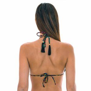 Bikini Triangel Top mit Motiven und gewellten Rändern - Rio de Sol