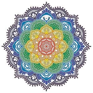 Rundgekerbtes Mandala-strandtuch Mit Quasten - Magic Mandala Pompom