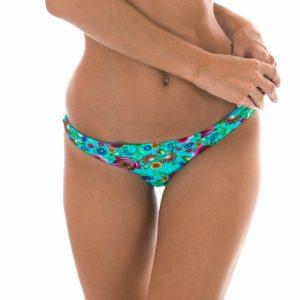 Blaugeblümte feste brasilianische Bikinihose - Calcinha Bloom Cortinao
