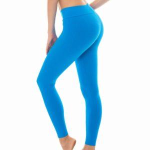 Uni blaue Fitness Leggings - Rio de Sol
