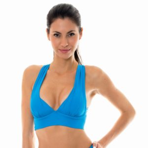 Blaues Fitness-Top Sport BH-Stil - Nz Resort Top Fitness