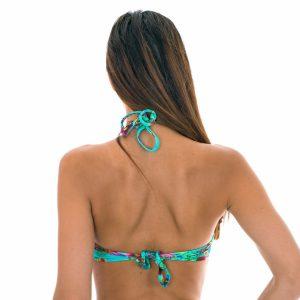 Push-up Bikini-Top, geblümt azurblau - Rio de Sol