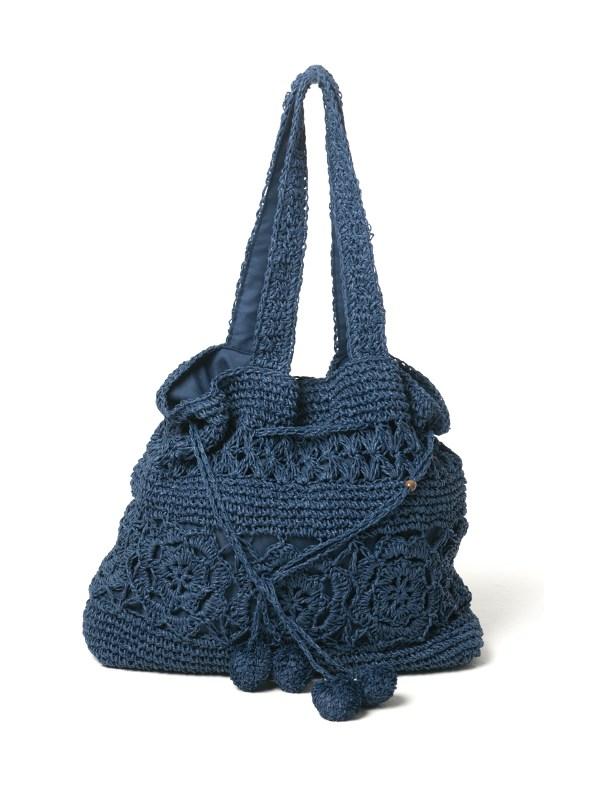 Navy Strandtasche gehäckelt - Navy Crochet Bag