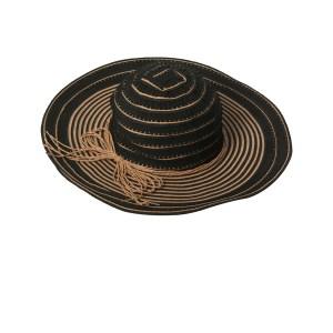 Schwarz-goldfarbener Sonnenhut - Black Hat