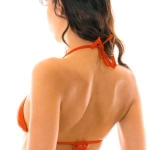 Rotes verstellbares Sexy Triangel Bikinioberteil