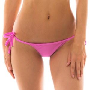 String Bikinihöschen Rosa zum verknoten, Mit Accessoires - Bottom Bikini Tri Micro