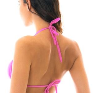 Rosafarbenes Sexy Triangle Bikini-Top