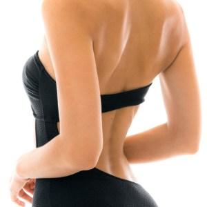 Zweiteiliger sexy Bandeau Badeanzug - schwarz