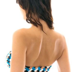 Sexy Bikini Bandeau geometrische Musterung