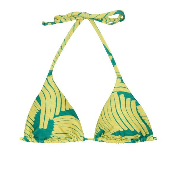 Grün-gelbes verstellbares Triangel Top