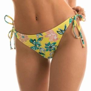 Gelbe Bikinihose mit Accessoires - Bottom Florescer High Comfort