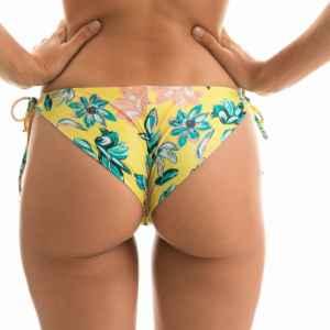 Gelbe Sexy Bikinihose mit Accessoires