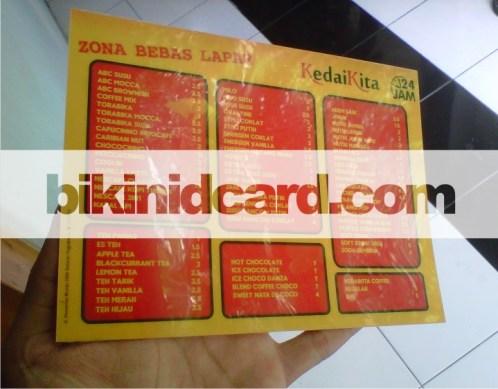 id card murah jogja - Contoh cetak daftar harga