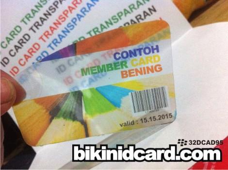 cetak id card bening