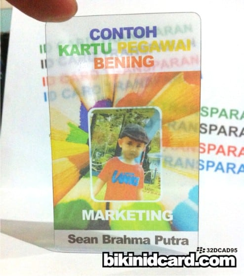 id card transparan
