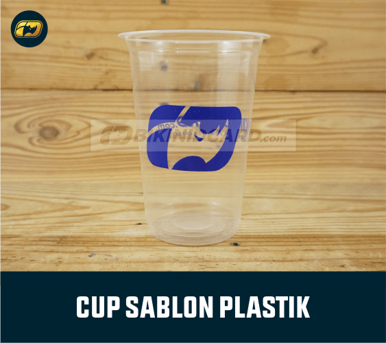 Cetak Sablon Cup Plastik Murah