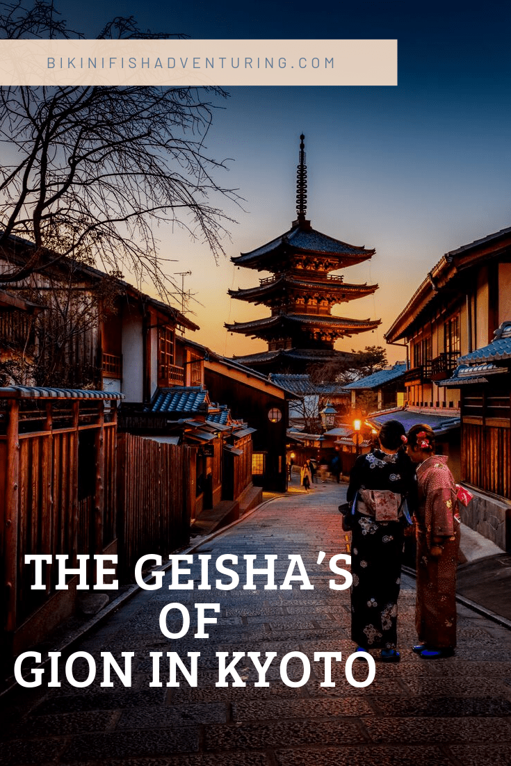 The Geisha's of Gion in Kyoto.