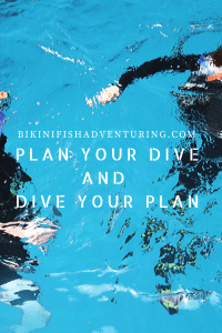 Plan your dive and dive your plan