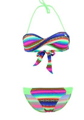 Maillot de bain Enfant Lolita Angels 2 Pièces Bandeau Rio Chic Acapulco Smile Multicolore - Couleurs - MULTICOLORE