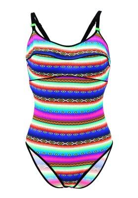 Maillot de bain Lolita Angels 1 Pièce Piping Jam Acapulco Smile Multicolore - Couleurs - MULTICOLORE