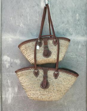 straw beach bags - in love island majorca