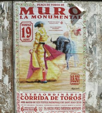 Spanish Bullfight poster - in ses salines home to love island majorca