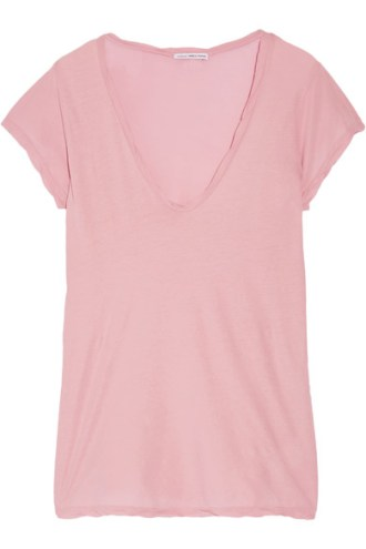 james perse baby pink cotton jersey