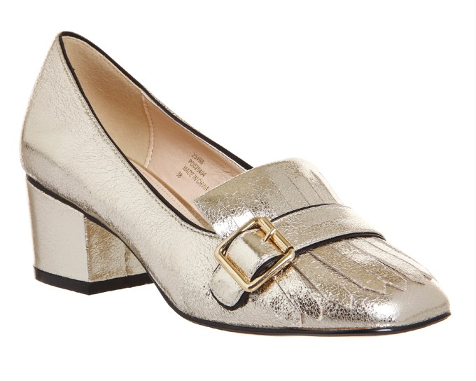 Office fringe block heel loafers - gucci copy