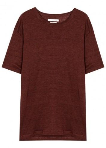 Isabel marant burgandy linen tshirt