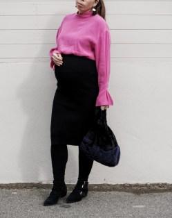 knit skirt zara