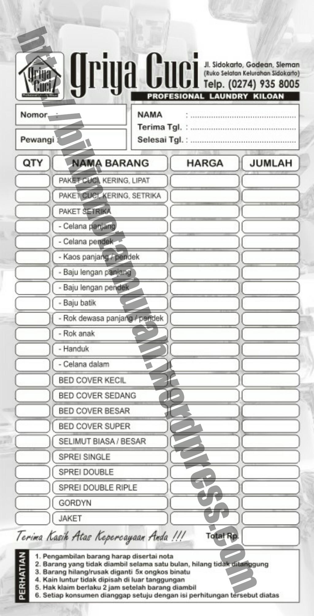 Percetakan Tangerang Nota Amp Faktur Newwallpaperjdico