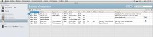 La liste des activités entrée manuellement dans Bentó sur Mac. Mais aussi sur iPhone et iPad, avec une synchro parfaite.