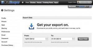 Un export facile à paramétrer. Choisissez vos dates et c'est tout.