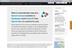 Garmin Sync, «libérez» vos données d'entraînement