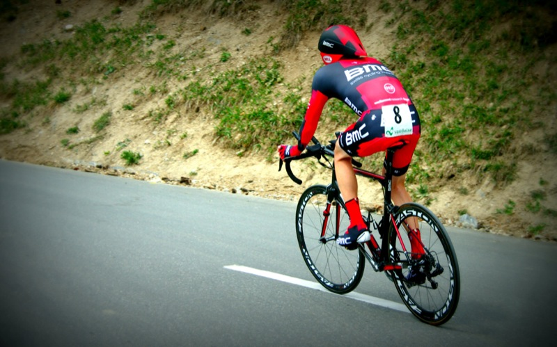 BMC rider Brent Bookwalter during final time trial at Tour de Romandie in Crans-Montana, Switzerland, april 29 2012.