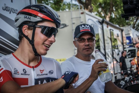 Simon Pellaud en compagnie de Lionel Marie. Photo IAM Cycling - Flick'r