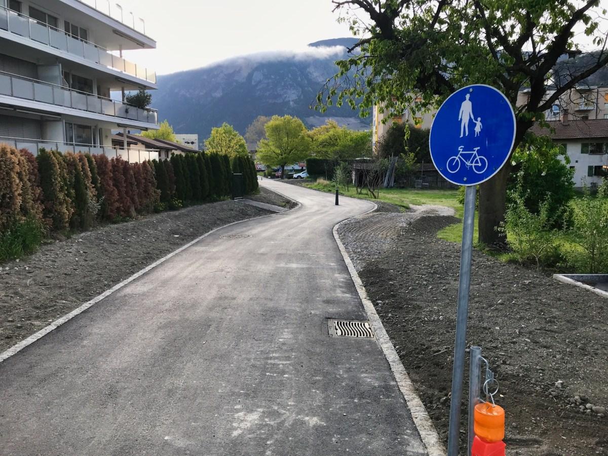 Sion: une piste enfin cyclable