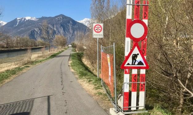 Quatre mois de travaux sur les berges du Rhône à Fully