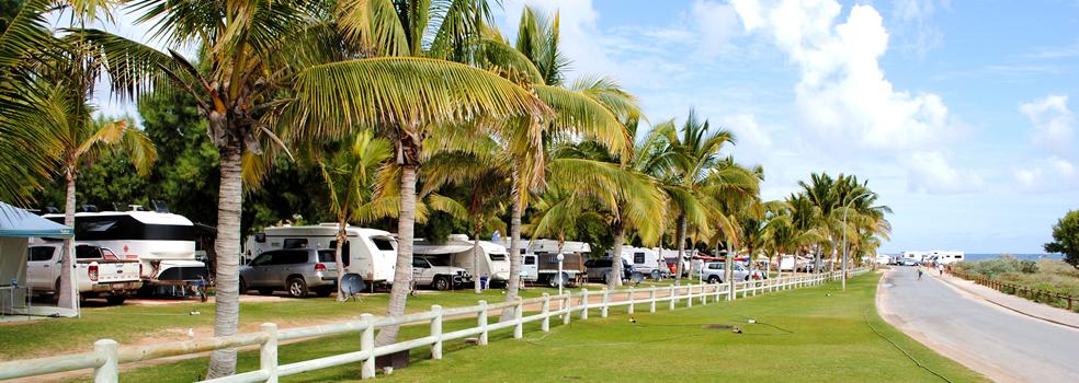 Campingpladsen i Coral Bay