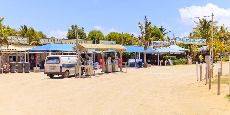 Brændstof er dyrt i Coral Bay