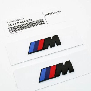 bmw m emblem i svart till skärmar