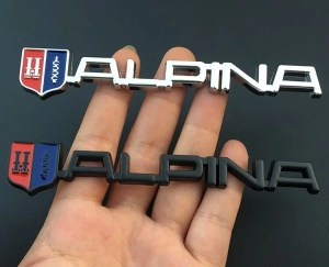 snygg alpina emblem till BMW