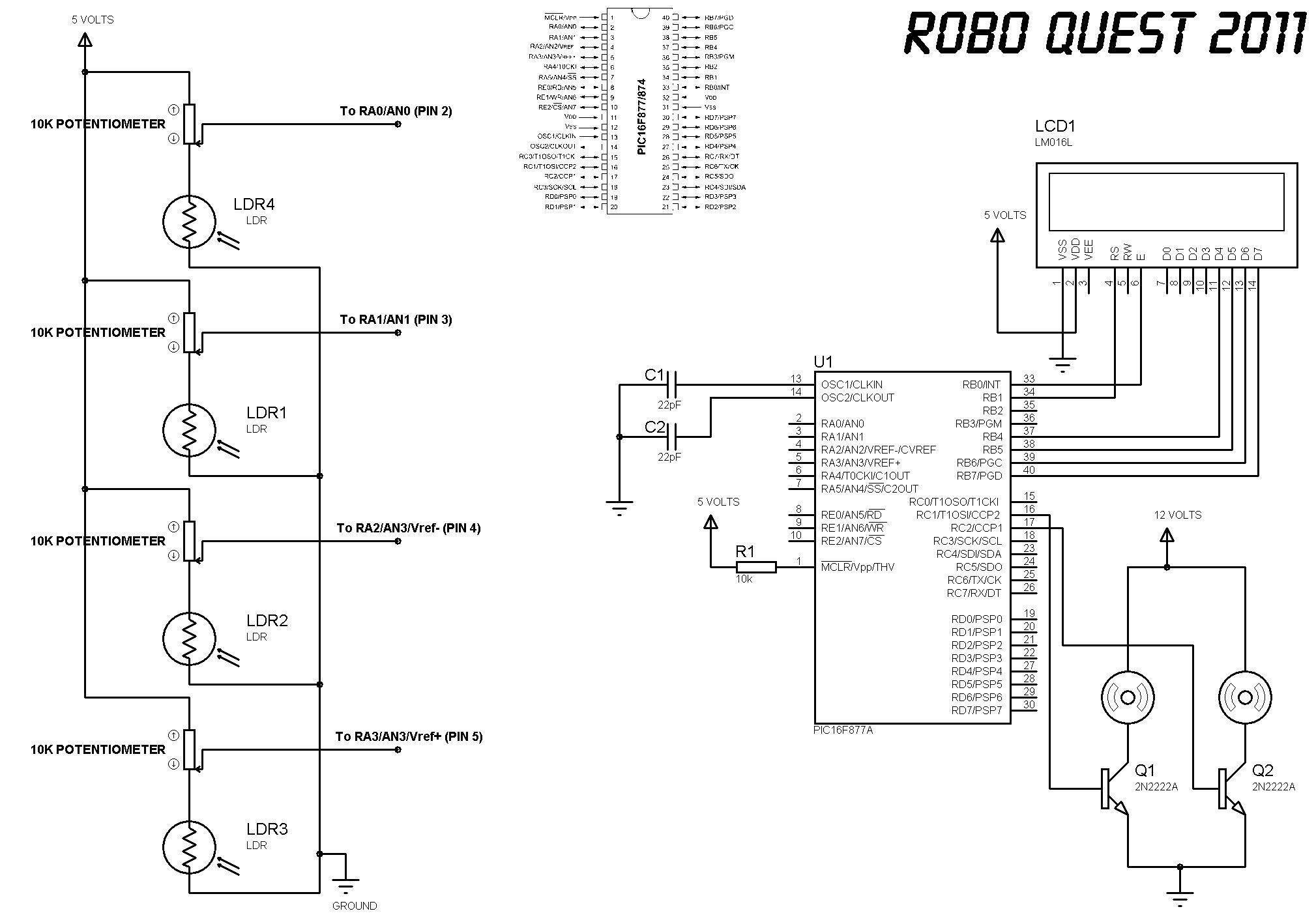 robotic circuit diagram