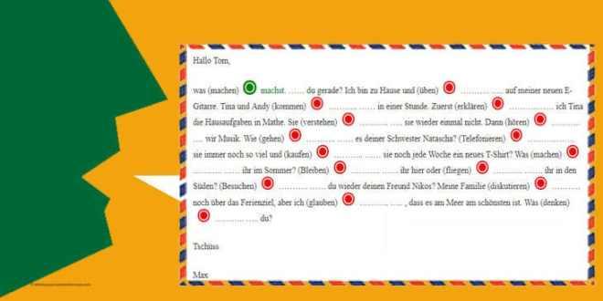 تمرين على تصريف الافعال مع الضمائر الشخصية الألمانية بالنطق