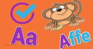 تمرين الأطفال على الحروف الألمانية