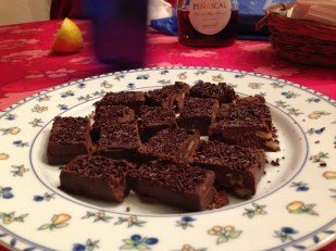 A variation of Turrón de Chocolate // Spanish dessert usually enjoyed during the holiday season