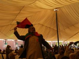 @TahirKhattak7 Pandaal was full of Jiyalas on Foundation Day of PPP Bcoz they never miss any party event. @BBhuttoZardari 1